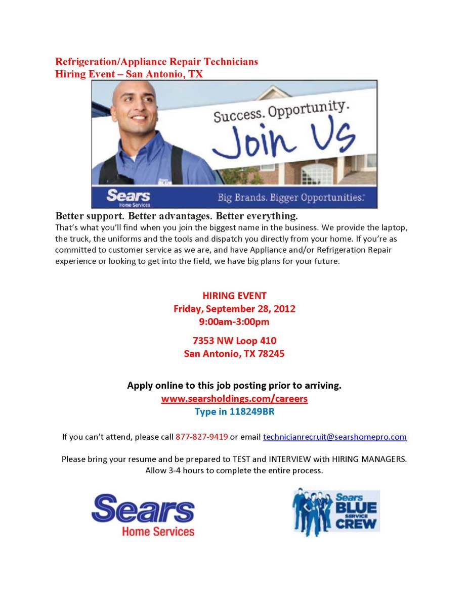 Sears To Host Hiring Event In San Antonio City Of San
