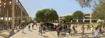 A landscape of the UTSA Campus