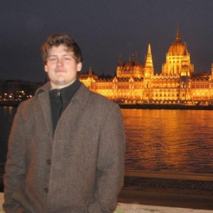 Budapest, Hungary: in front of the Parliament